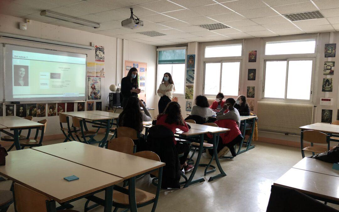 Action de sensibilisation au Collège Claude Debussy